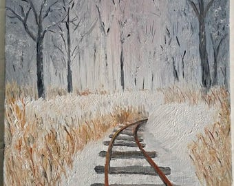 Acrylic Painting Landscapes*Paintings On Canvas*Wall Art Canvas*Nature Art*Home Decor*Country Home Decor*