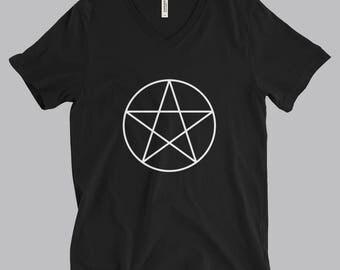 Wiccan Pentacle Tshirt - Pentacle Print - Wiccan Star T-Shirt - Occult Print Graphic Tshirt - Graphic Tee - Pentagram Tshirt - Occult Shirt