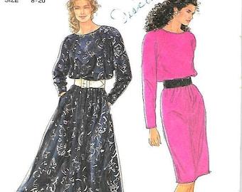 25% OFF Simplicity  9961 VTG   Misses Dress   (suitable for knits)  Size 8-20  Uncut