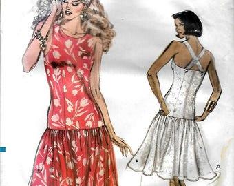 Vogue 7530      Misses/Petite Summer Dress     Size 12,14,16    Uncut