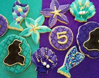 Mermaid sugar cookies 1 dozen