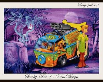 cross stitch pattern, cross stitch, Scooby-Doo 1 - cross stitch pattern - PDF pattern - instant download!