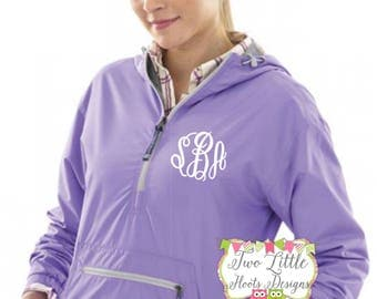 Woman's Charles River Chatham Anorak Pullover ~ Monogram Pullover Jacket ~ Monogrammed Jacket ~ Monogrammed Pull Over ~  5809 Pullover