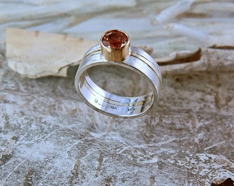 Oregon Sunstone Nordic Wedding Band
