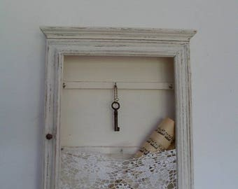 White linen patina key box