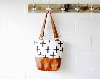 Leather Tote Bag - Tote - Shoulder Bag - Tan Large Leather Shoulder Tote - Tan Hobo bag - Bucket Bag - Hand Made in Australia