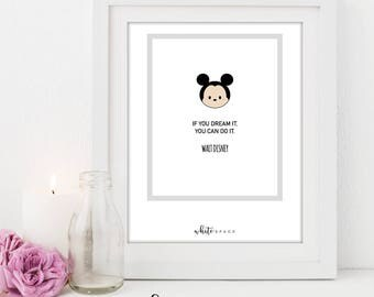 A4 Disney Series Print | Mickey Mouse