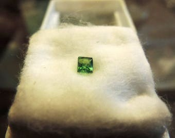 Tsavorite: quality grossular Garnet gemstone.