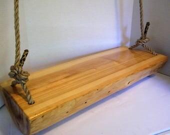 Wood Swing, Swing, Tree Swing, Log Swing, Porch Swing