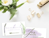 Young Living Business Cards lavender - DIGITAL FILE only
