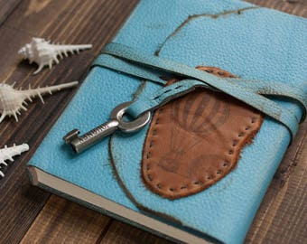 Key Travel Journal, Travel notebook, Handmade Journal,  Leather Journal,  Key Journal, Travel book