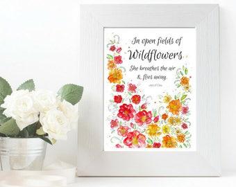 In Open Fields of Wildflowers Print