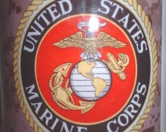 USMC US Marine Corps desert digital MARPAT ceramic coffee mug