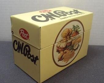 SALE CW Post Cereal Tin Recipe Box