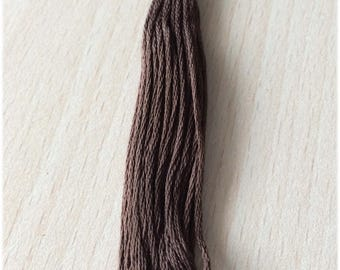 DMC stranded 3031 Mocha Brown dark six strands