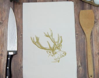 Deer Flour Sack Tea Towel