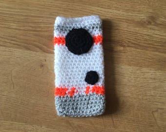 Crochet BB8 Phone Sock