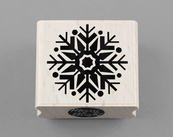 Rubber Stamp Snowflake 4 x 4 cm
