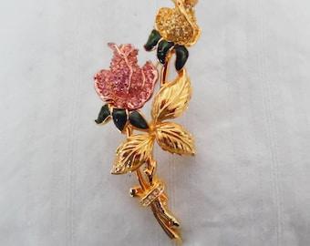 Nolan Miller Double Rose Pin