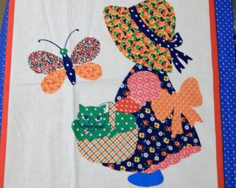 Sunbonnet Sue and Overall Sam fabric panel