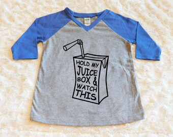 Baby Boy Clothes, Toddler Boy Clothes, Hold My Juice Box, Raglan Sleeve Shirt, Baby Boy Shirt, Toddler Boy Shirt, Baseball shirt Funny Shirt