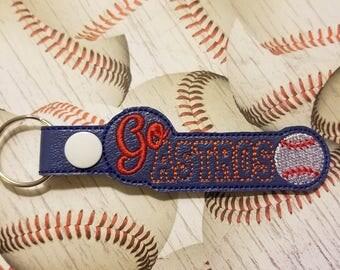 Go Astros - Baseball - Key Fob In The Hoop - DIGITAL Embroidery DESIGN