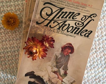 Anne of Avonlea, book two of Anne of Green Gables series written by LM Montgomery, vintage book, classic novel
