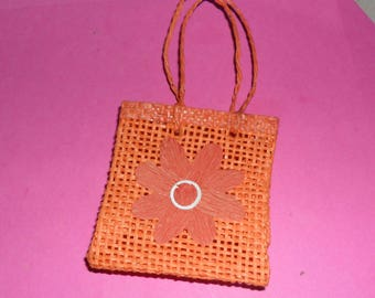 1 raffia bag orange and his Daisy 65X58mm
