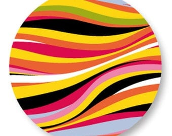 X 1 pattern psychedelic metal 25mm Cabochon