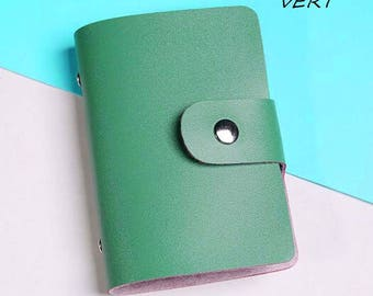 Green soft business card holder X 1