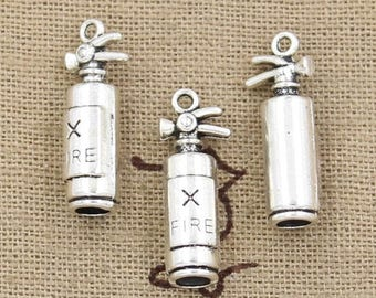 Silver 3D fire extinguisher 2 X 23mm Tibetan