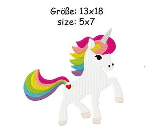 Embroidery Design Unicorn 5x7' - DIGITAL DOWNLOAD PRODUCT