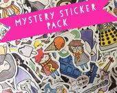 Mystery Vinyl Sticker Pack- Hello Quirky, Geeky Stickers, Kawaii Stationary, Random Stickers, Surprise Sticker Set