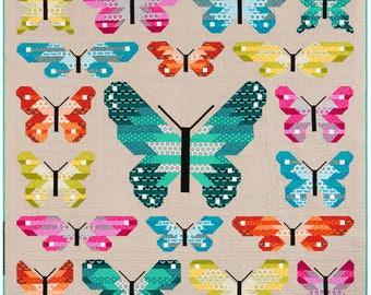 Lepidoptera Sampler Quilt Kit - Paintbox Basics - Elizabeth Hartman - Robert Kaufman - KITP-1688-35