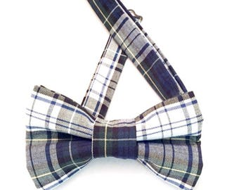 Plaid bow tie, Black Plaid Tie, uniform bow tie, blue bow tie, green plaid tie, green bow tie, black plaid neckwear, navy plaid neckwear,