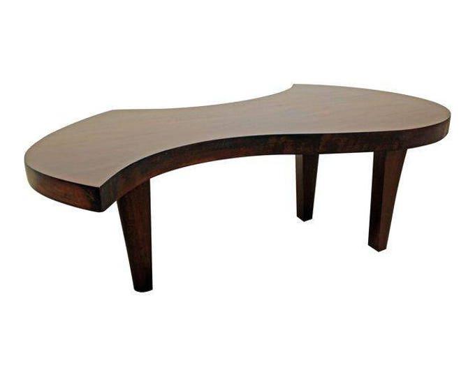 Mid-Century Danish Modern Amorphous Walnut Accent/Coffee Table