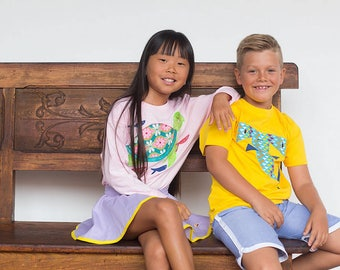 Sea turtle t shirt - Kids' T-shirt - Children's Gift - Personalized shirt - animal illustration - Ocean tshirt - Funny Kids - beach