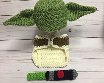 Baby yoday hat-yoda hat-baby photo prop-