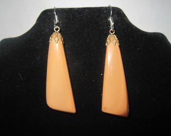 Two Toned Brown & Cream Earrings