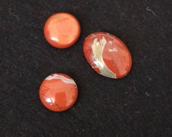 Vintage Red Creek Jasper Assorted Cabochons