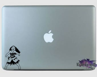 Moana Yelling - Moana - Inspired - Sidekick - Disney - Disney Bound - Laptop - Window - Car - Vinyl - Decal - Sticker