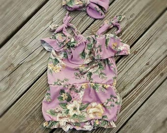 Floral Flounce Sunsuit