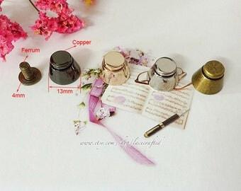 10 pieces 13mm Light golden Silvery Bronze Domed Gunmetal Copper Bag Purse Screw feet stud bag feet Nailheads Spike DIY