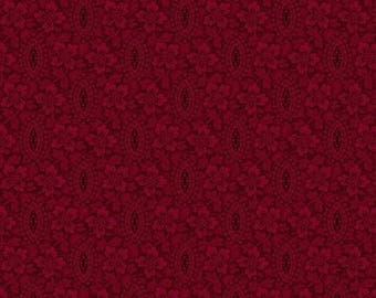Medium Red Burgundy Floral, R1755580111, Marcus Brothers, Conestoga, Reproduction (By 1/2 Yard)
