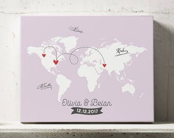 Guest book map etsy world map guestbook travel wedding map map guest book travel guest book gumiabroncs Image collections