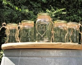 Family Arrow Pierced Heart Unity Sand Set Personalized Mason Jars  Mr. Mrs. Sand Ceremony Set Family of 4 Country Barn Rustic Farm Children
