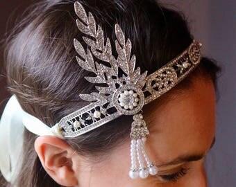 DAISY GREAT GATSBY 1920s headband tiara Hairband fascinator headband
