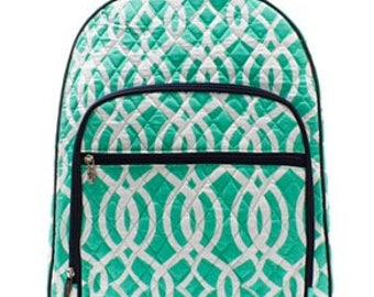 Embroidered Personalized Arrow Quilted Backpack