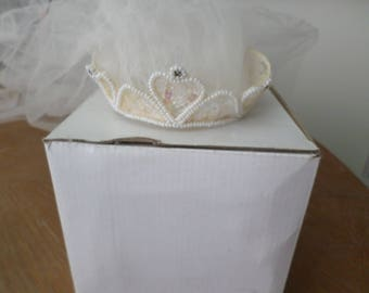 Wedding Crown and Veil 1950's Vintage