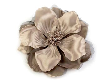 Big fabric flower brooch or hair